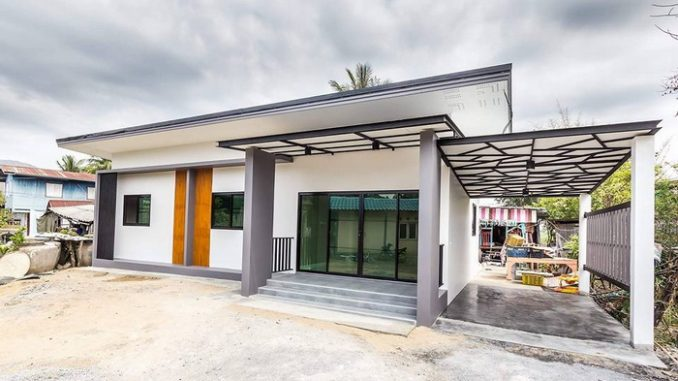 Modern House 3 Bedrooms And 2 Bathrooms With Garage House