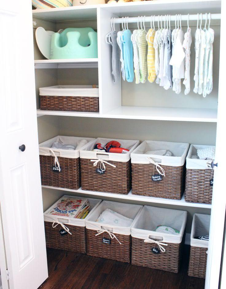 Baskets to organize baby items