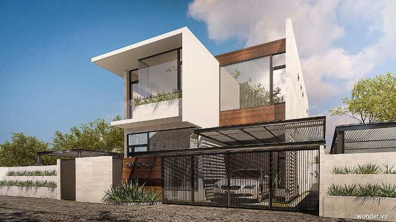 Modern Minimalist House Design With 4 Bedrooms House And