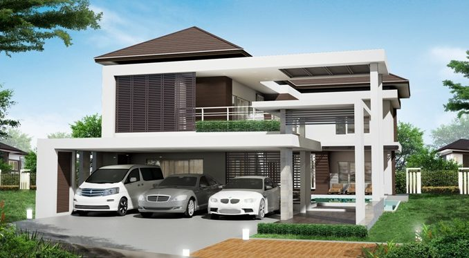 3-Car Garage Two Story House Design With 4 Bedrooms