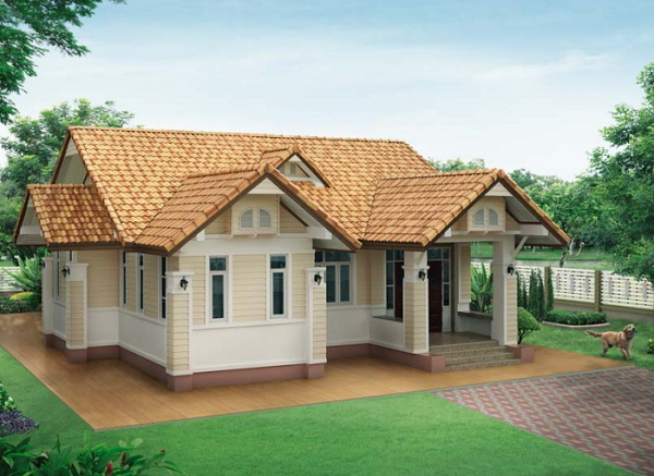 Simple Two Bedroom Bungalow House