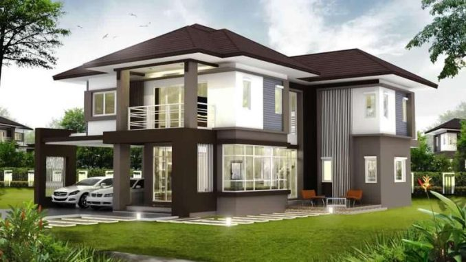 2 Storey House Concept With 4 Bedrooms