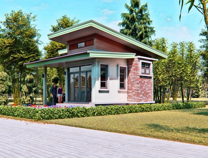 Simple Enough With The Complete Amenities Of A Standard House Having Garage Living Area Dining Kitchen Toilet And Bath One Bedroom