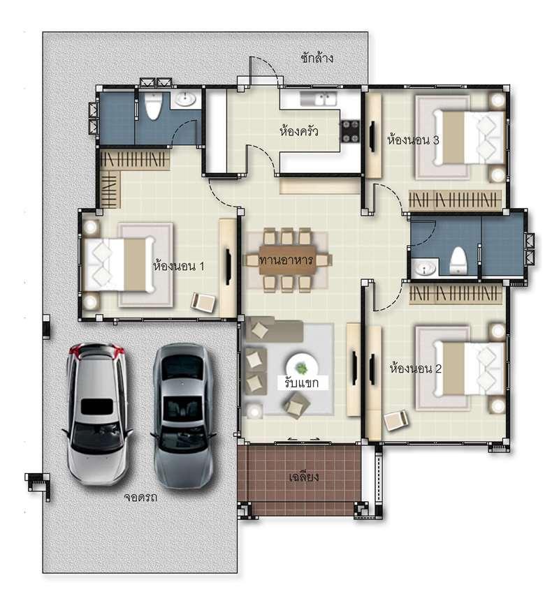 3 Bedroom Bungalow Design Small Room Design Ideas