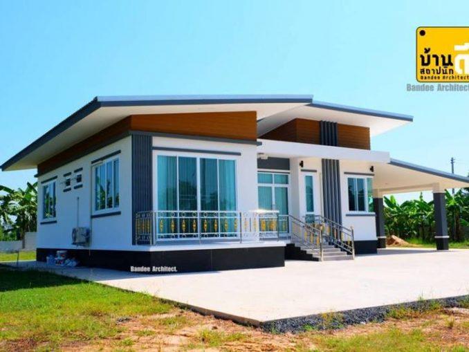 modern one storey house plan
