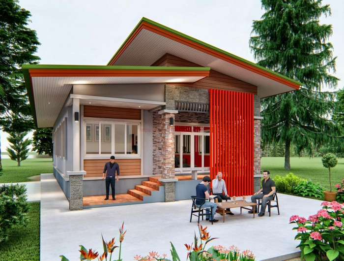 Elevated One Story House With 128 Sq M Floor Area House And Decors