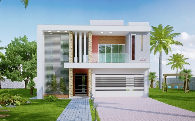 Sophisticated Two Storey House Design