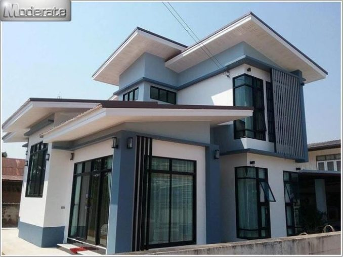 two storey house