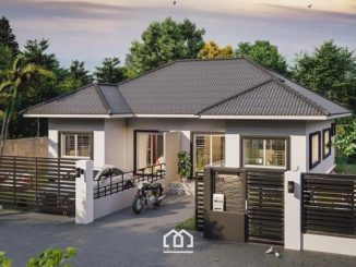 One Storey Duplex House Plan