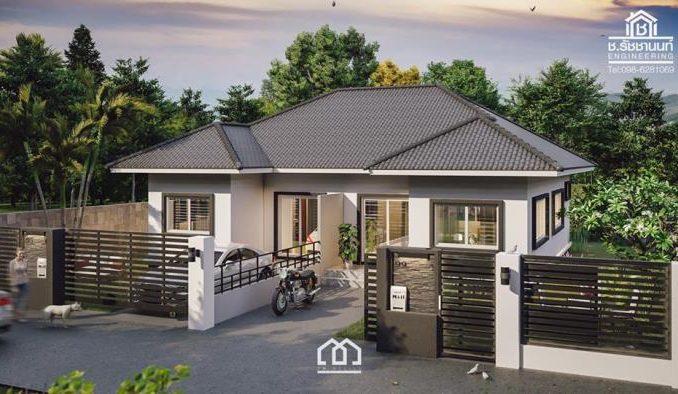 One Storey Duplex House Plan