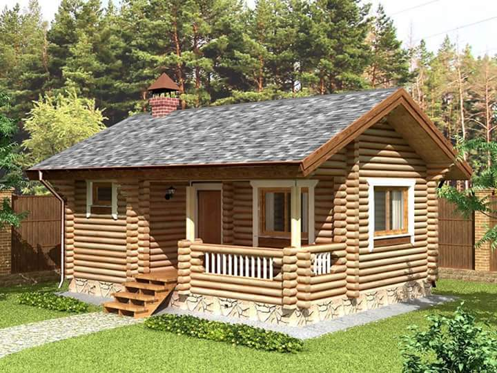 Beautiful and Simple Log Cabin Homes - House And Decors