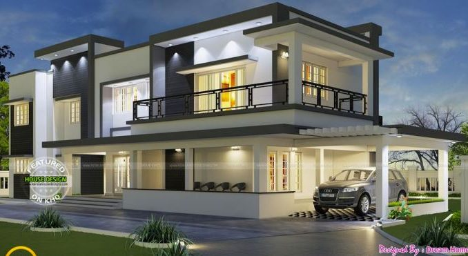 Luxury And Comfortability Two Storey House Plan With Four Bedrooms And Home Gym House And Decors