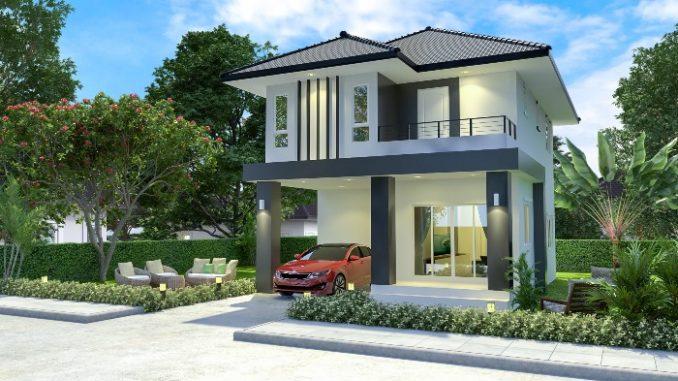 luxurious two storey house