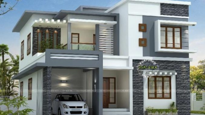 Two Storey Modern Villa With Open House Design House And