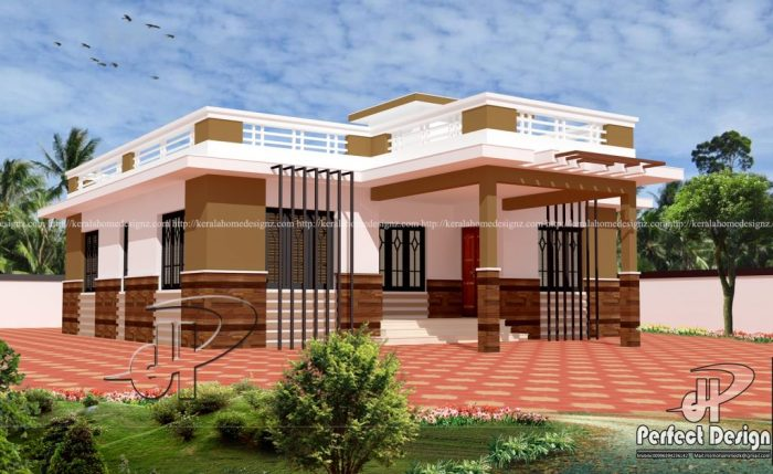 Modern Single Storey House Plan With Large Open Terrace ...