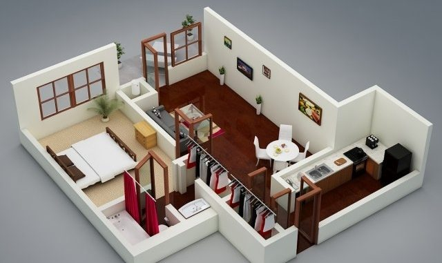 Cozy OneBedroom House Designs House And Decors Impressive One Bedroom House Designs
