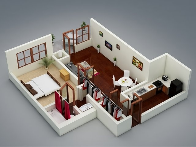 Cozy One Bedroom House Designs House And Decors