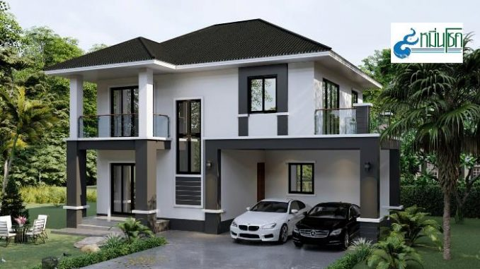 Imposing Double Storey House With A Touch Of Modern Design House And Decors