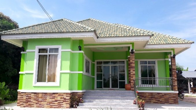 Bungalow With An Impressive Exterior Color And Roofs House And Decors