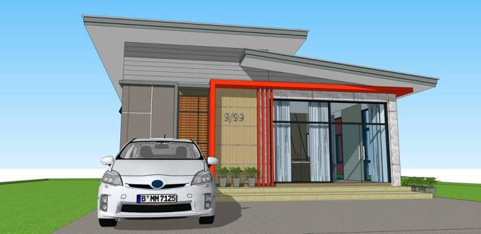 One-storey Office Building Design with a Special Conference Room