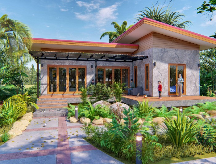 Affordable Two Bedroom Modern Bungalow Thai Design House And Decors