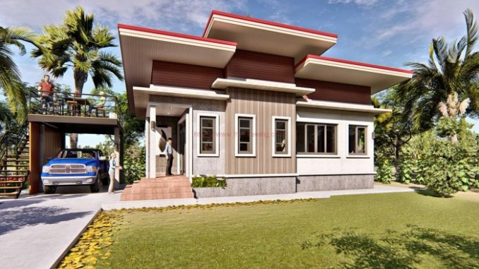 Modern Bungalow With Two Bedrooms And Detached Balcony And