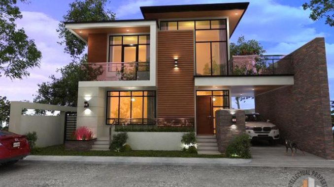 Spectacular Two-storey House Design with Impressive Interior ... on double storey terrace house, double storey pool, bungalow design, dreamhouse design, 3-story commercial building design, double storey garden design, two storey house design, modern residential building design, west coast modern design, 3 storey house design, double wide mobile home with porch, 2 story office building design, double storey office, simple model houses design, double story home exterior design, townhouse design, double storey house in south africa, double storey house in selangor, double floor house design, 2 storey exterior design,