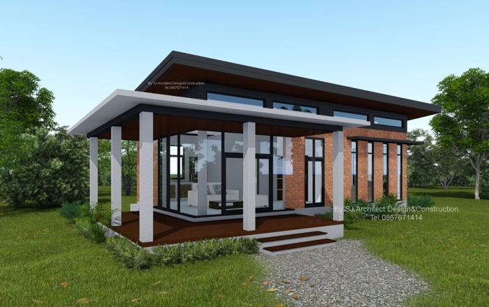 Design Low Cost.Low Cost Modern Two Bedroom House Design With L Shape