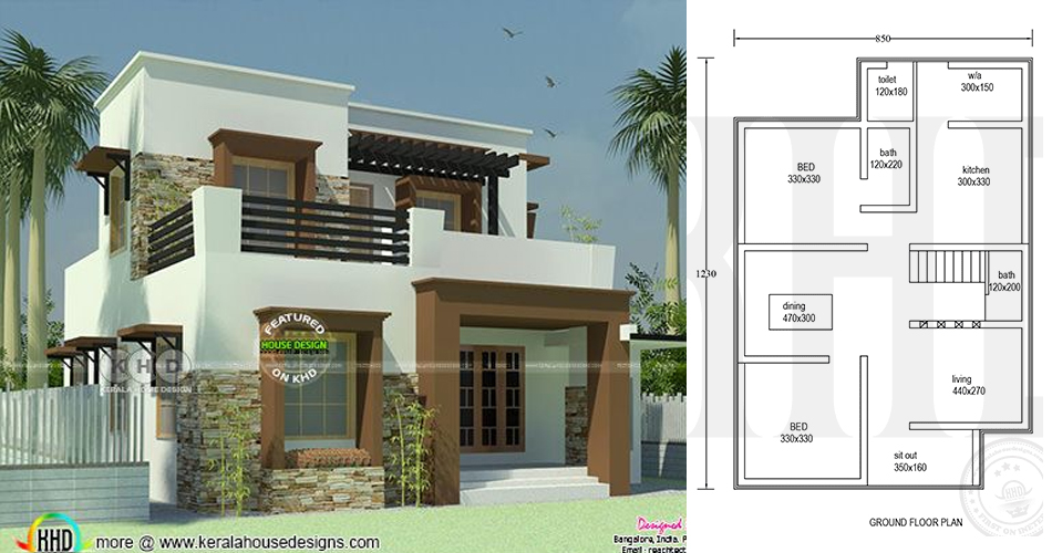 Three Bedroom Double Storey With Roof Deck House And Decors