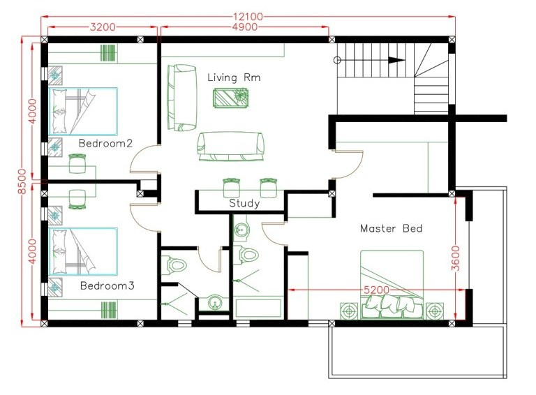 Elegant 10x20 Meter Double Storey House House And Decors